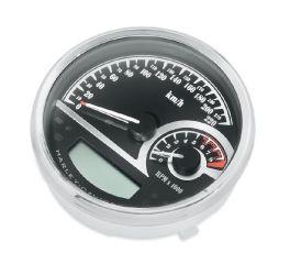 Harley-Davidson® Black Dial Analog Speedometer/Tachometer 74777-11C