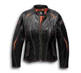 Harley-Davidson® Harker Perforated Leather Jacket with Coolcore Technology 97043-19VW