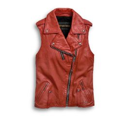 Harley-Davidson® Biker Zip Leather Vest 97049-19VW