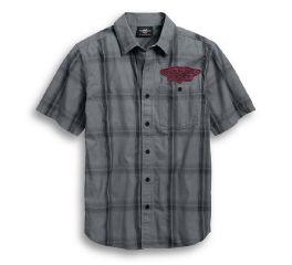 Harley-Davidson® Skull Target Plaid Shirt 96768-19VM