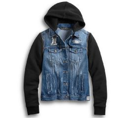 Harley-Davidson® Zip-Off Sleeve Denim Jacket 98402-20VW