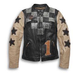 Harley-Davidson® Vintage Race-Inspired Leather Jacket 97003-20VW