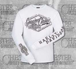 Harley-Davidson® Men's White Cracked Classic Long Sleeve Tee, RK Stratman Inc. R003093