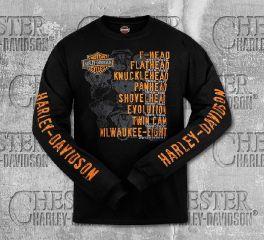 Harley-Davidson® Men's Black Roll Call Long Sleeve Tee, RK Stratman Inc. R003276