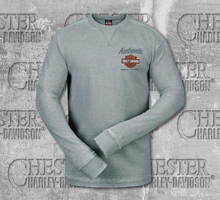 Harley-Davidson® Men's Grey Genuine 1903 Long Sleeve Tee, RK Stratman Inc. R003176