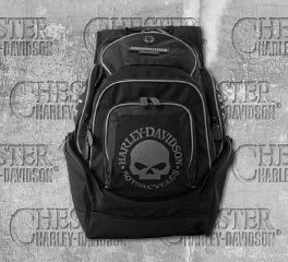 Harley-Davidson® Men's Black Skull Backpack, Leather Accessory Source BP1924S