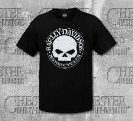 Harley-Davidson® Men's Black Skull Short Sleeve Tee, RK Stratman Inc. R003265