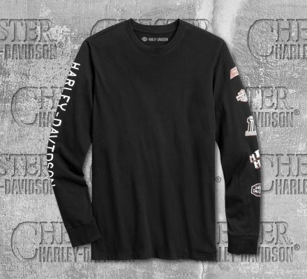 Harley-Davidson® Men's Black Rad To The Bone Long Sleeve Tee 96133-20VM
