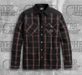 Harley-Davidson® Men's Sherpa Fleece Lined Shirt Jacket 96112-20VT