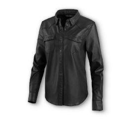 Harley-Davidson® Coated Denim Stretch Shirt 96066-20VW