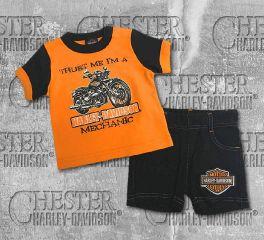 Harley-Davidson® Baby Boy's Newborn Graphic Tee and Shorts Set, OkisOnent GmbH 2052809