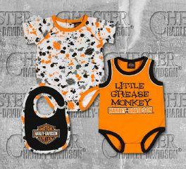 Harley-Davidson® Newborn Baby Boy's Creeper Set & Bib, OkisOnent GmbH 3052805
