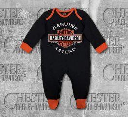 Harley-Davidson® Baby Boy's Interlock B&S® Footed Coveralls, OkisOnent GmbH 3050911