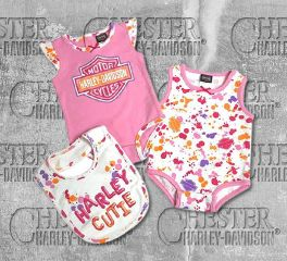 Harley-Davidson® Newborn Baby Girl's Creeper & Bib Set, OkisOnent GmbH 3002813