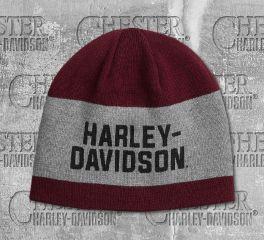 Harley-Davidson® Men's Reversible Wide Stripe Knit Hat 97615-20VM