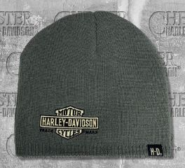 Harley-Davidson® Embroidered Nostalgic Bar & Shield® Knitted Beanie Cap, Global Products, Inc. KNCUS022480