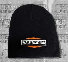 Harley-Davidson® Hexagon Bar & Shield® Embroidered Knit Beanie Cap, Global Products, Inc. KNCUS020130