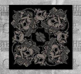 Harley-Davidson® Men's Grim Skulls Bandana, Global Products, Inc. BA34180