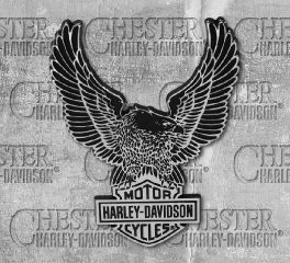 Harley-Davidson® Chrome Finish Upwing Eagle Decal, Global Products, Inc. DC328801