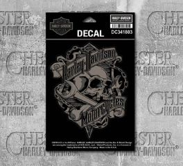 Harley-Davidson® Grim Skull & Wrench Decal, Global Products, Inc. DC341803