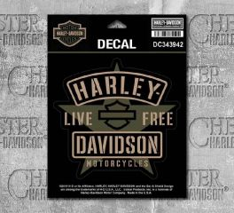Harley-Davidson® Military Star Matte Decal, Global Products, Inc. DC343942