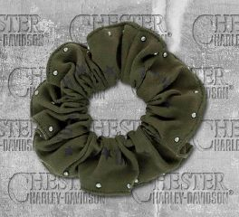 Harley-Davidson® Women's Military Star Studded Hair Scrunchie, Global Products, Inc. HS34353