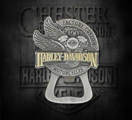 Harley-Davidson® Factory Custom Bottle Opener Magnet, Global Products, Inc. DM14223