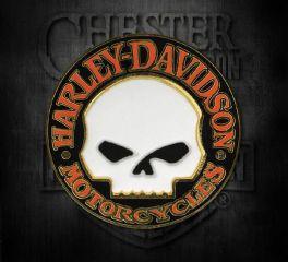 Harley-Davidson® Hubcap Willie G Skull Logo Cloisonne Pin, Global Products, Inc. P1199262