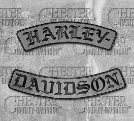 Harley-Davidson® Embroidered H-D® Script Emblem, Global Products, Inc. EM022757