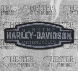 Harley-Davidson® Embroidered Velocity Text Emblem Patch, Global Products, Inc. EM327802