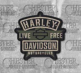 Harley-Davidson® Embroidered H-D® Military Star Emblem Patch EM343942