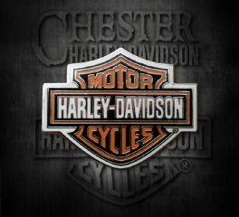 Harley-Davidson® Orange Bar & Shield® Silver Pin, Global Products, Inc. P302662
