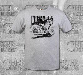 Harley-Davidson® Men's Grey Negative MC Short Sleeve Tee, RK Stratman Inc. R003247