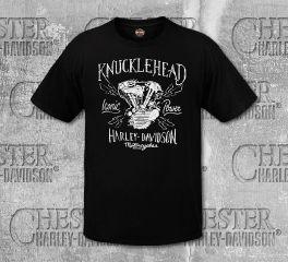 Harley-Davidson® Men's Black Knucklehead Short Sleeve Tee, RK Stratman Inc. R003122