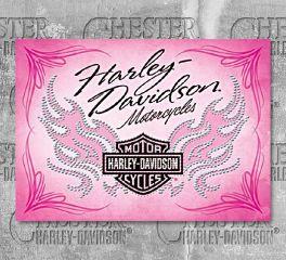 Harley-Davidson® Pink B&S® Flames Birthday Greeting Card HDL-20007
