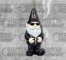 Harley-Davidson® Sculpted Male Biker Gnome Hanging Ornament, Evergreen Enterprises 3OT4902GM