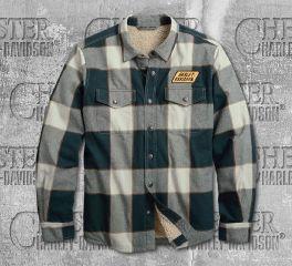 Harley-Davidson® Men's Sherpa Lined Slim Fit Shirt Jacket 96008-20VM