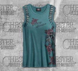 Harley-Davidson® Women's Slash Armhole Sleeveless Tee 96077-20VW