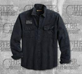 Harley-Davidson® Men's Motorcycle Long Sleeve Shirt 96110-20VM