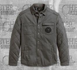 Harley-Davidson® Men's Diamond Quilted Shirt Jacket 96117-20VM