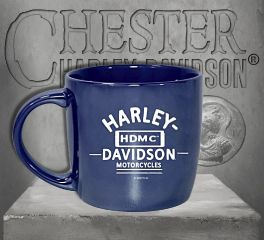 Harley-Davidson® Blue City Lustre Ceramic Coffee Cup, Evergreen Enterprises 3CLM4925