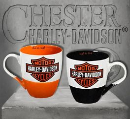 Harley-Davidson® Two Ceramic Cups O'Java Gift Set, Evergreen Enterprises 3MCF4900
