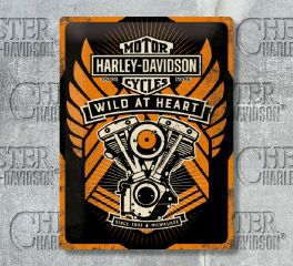 Harley-Davidson® Wild at Heart Tin Sign, Nostalgic Art 63310