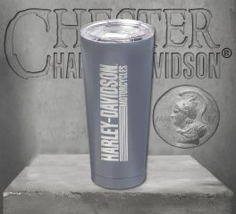 Harley-Davidson® Double Wall Stainless Steel Etched Tall Tumbler, Evergreen Enterprises 3SSB4912
