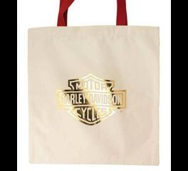 Harley-Davidson® Women's H-D® Beige Gold Red Shopper Tote Bag, Global Products, Inc. TB34604