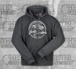 Harley-Davidson® Men's Grey Paint Logo Sweater, RK Stratman Inc. R003353