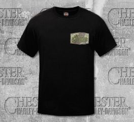 Harley-Davidson® Men's Black Freedom Patch Short Sleeve Tee, RK Stratman Inc. R003316