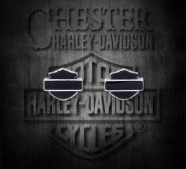 Harley-Davidson® Bar and Shield® Onyx Sterling Silver Earrings, Silver Studio Co. Ltd. HDE017