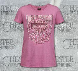 Harley-Davidson® Women's Pink Enduring Short Sleeve Tee, RK Stratman Inc. R003492
