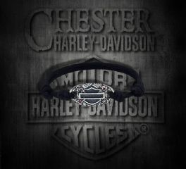 Harley-Davidson® Women's B&S® Sterling Silver Nylon Bracelet, Silver Studio Co. Ltd. HDBR124